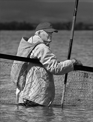 Haaf net fisherman