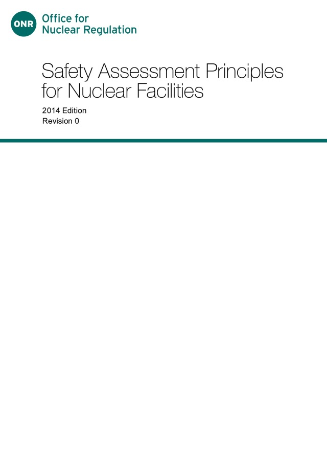 Safety Assessment Principles for Nuclear Facilities