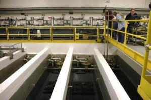 Cesium and strontium capsules are stored underwater in central Hanford. US Dept of Energy